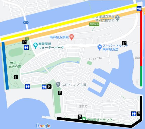 南芦屋浜全体図