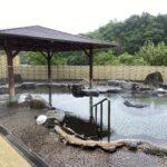 下湯原温泉ひまわり館で露店風呂
